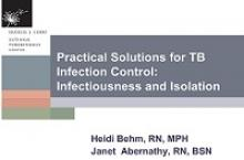 Go to online Practical Solutions for TB Infection Control page