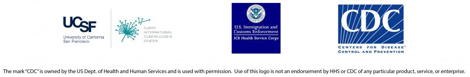image of partner logos, UCSF and CITC, US Immigration and Custom Enforcement, and Center for disease control and prevention