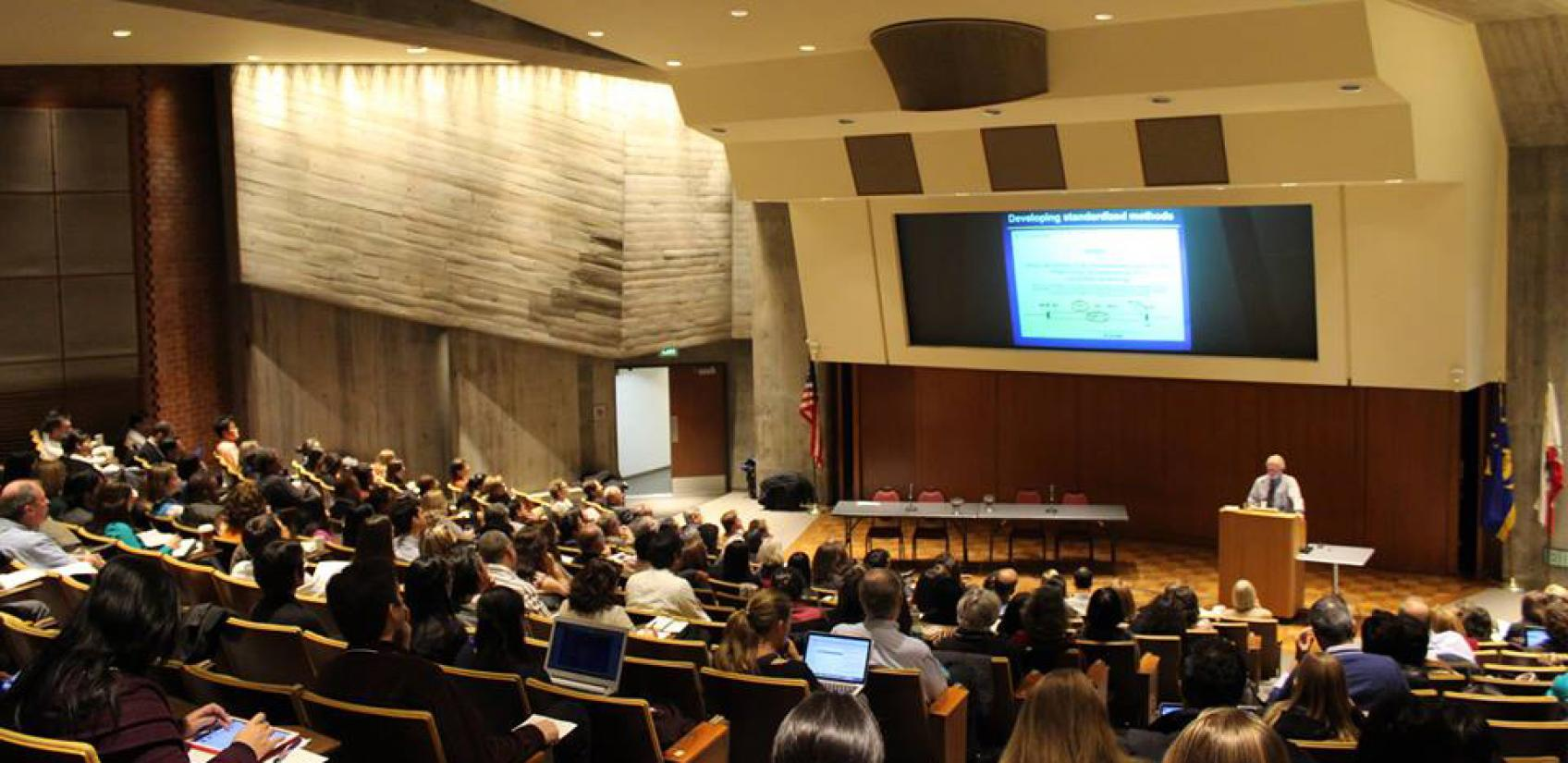 A picture of CITC co-founder Philip Hopewell speaking to a lecture hall.